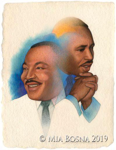 MartinLutherKing portrait by Mia Bosna