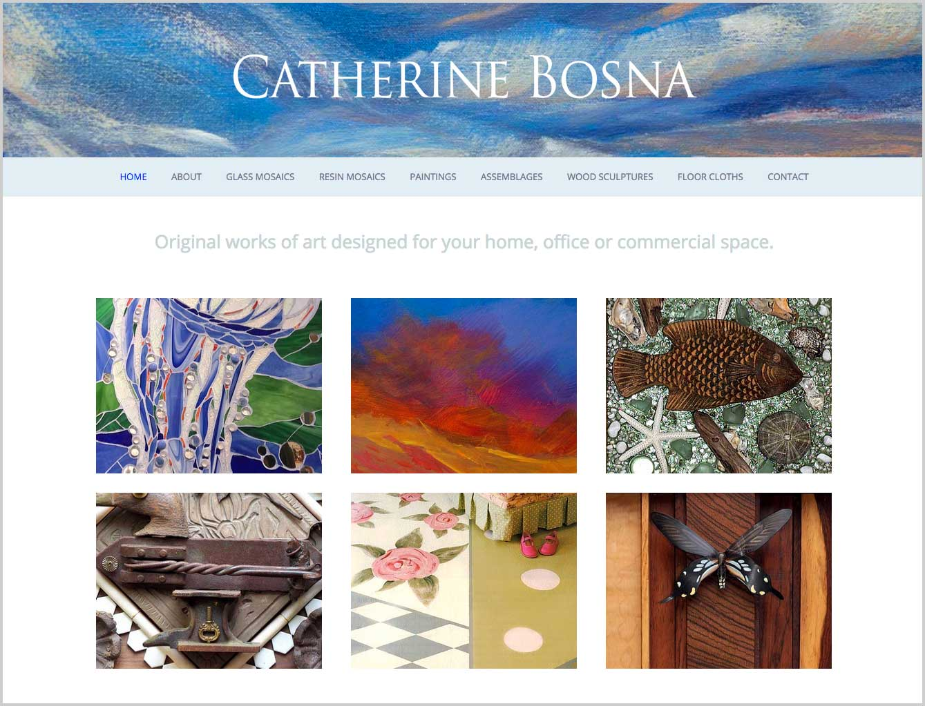 artist website design by Mia Bosna