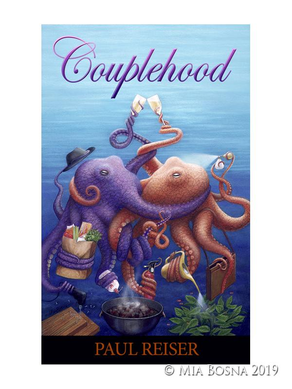 two octopus embracing as a couple