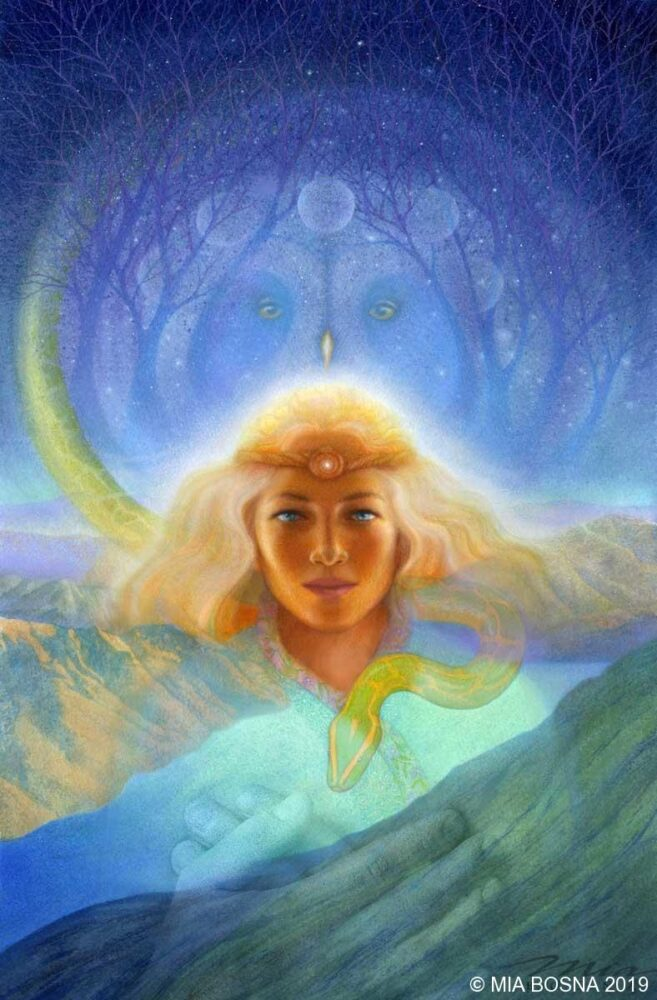 Artwork created by Mia Bosna from the shamanic journey