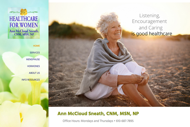 Web Design for Ann McCloud Sneath, by Mia Bosna