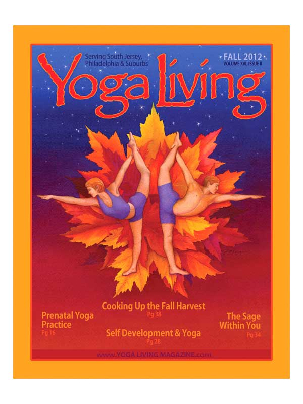 yoga figures and Autumn, cover illustration