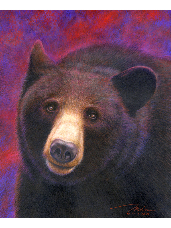 Painting of brown bear